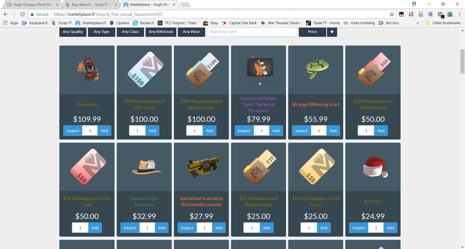 Marketplace shop bug - Archive - Scrap TF Forums